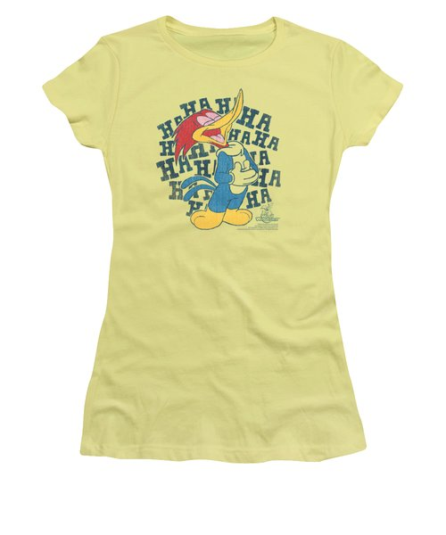 Woody Woodpecker - Laugh It Up Women's T-Shirt (Junior Cut) by Brand A