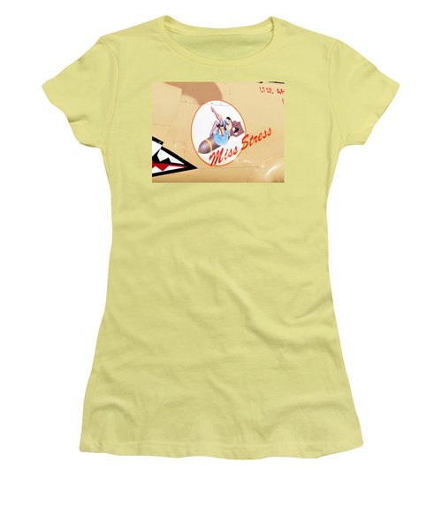Miss Stress Women's T-Shirt (Junior Cut) by David Lee Thompson