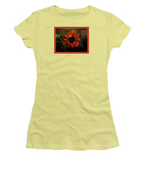 Today - Quote Women's T-Shirt (Junior Cut) by Anita Faye