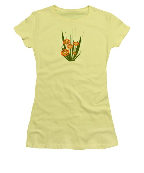Orange Flowers Women's T-Shirt (Junior Cut) by Anastasiya Malakhova