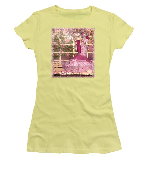Breath Of Rose Fantasy Elf Women's T-Shirt (Junior Cut) by Sharon and Renee Lozen