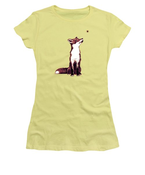 Brown Fox Looks At Thing Women's T-Shirt (Junior Cut) by Nicholas Ely