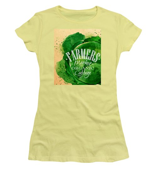 Cabbage Women's T-Shirt (Junior Cut) by Aloke Design
