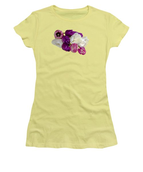 Cascading Tulips Women's T-Shirt (Junior Cut) by Phyllis Denton
