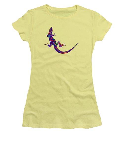 Colourful Lizard Women's T-Shirt (Junior Cut) by Bamalam  Photography