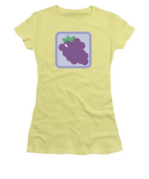 Cute Grapes Women's T-Shirt (Junior Cut) by Caroline Goh