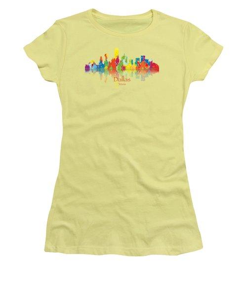 Dallas Texas Tshirts And Accessories Art Women's T-Shirt (Junior Cut) by Loretta Luglio