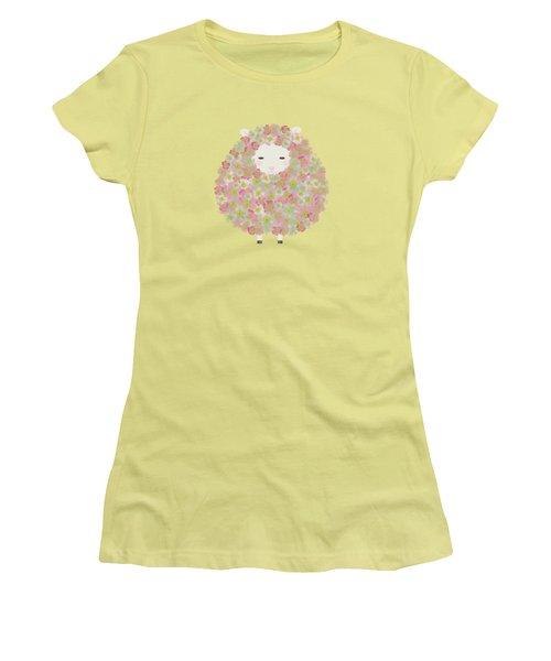 Flowery Sheep Women's T-Shirt (Junior Cut) by Brigitte Carre