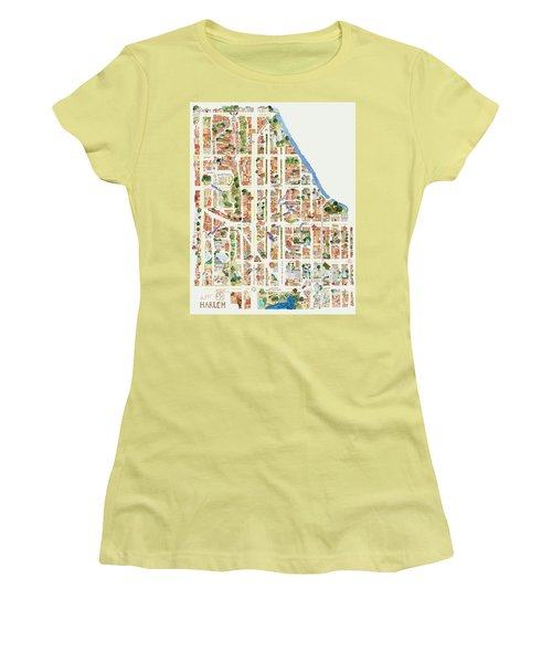 Harlem From 110-155th Streets Women's T-Shirt (Junior Cut) by Afinelyne