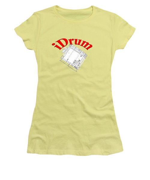 iDrum Women's T-Shirt (Junior Cut) by M K  Miller