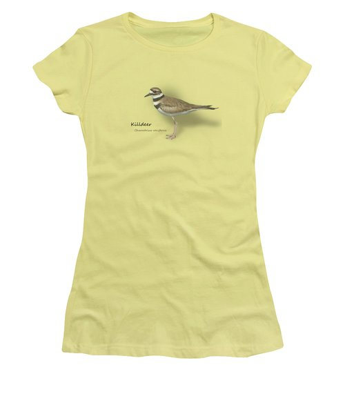 Killdeer - Charadrius Vociferus - Transparent Design Women's T-Shirt (Junior Cut) by Mitch Spence