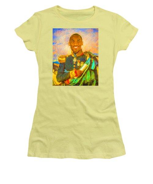 Kobe Bryant Floor General Digital Painting La Lakers Women's T-Shirt (Junior Cut) by David Haskett