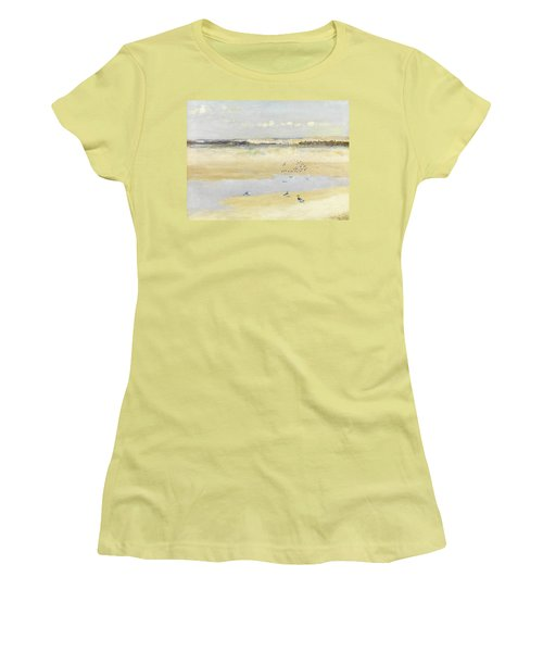 Lapwings By The Sea Women's T-Shirt (Junior Cut) by William James Laidlay