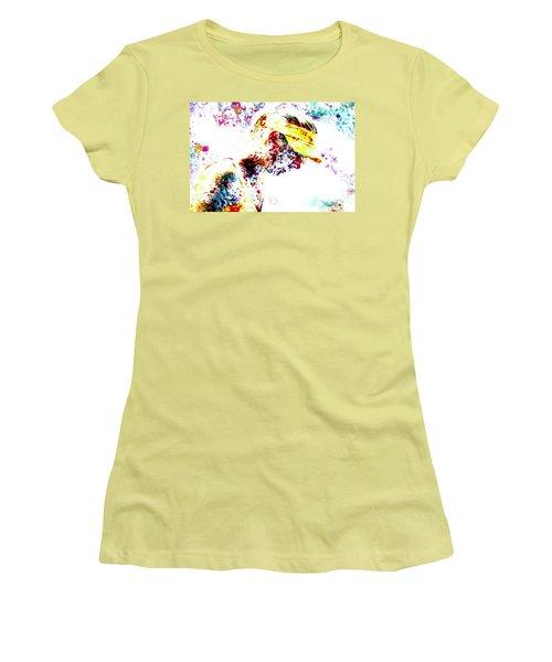 Maria Sharapova Paint Splatter 4p                 Women's T-Shirt (Junior Cut) by Brian Reaves