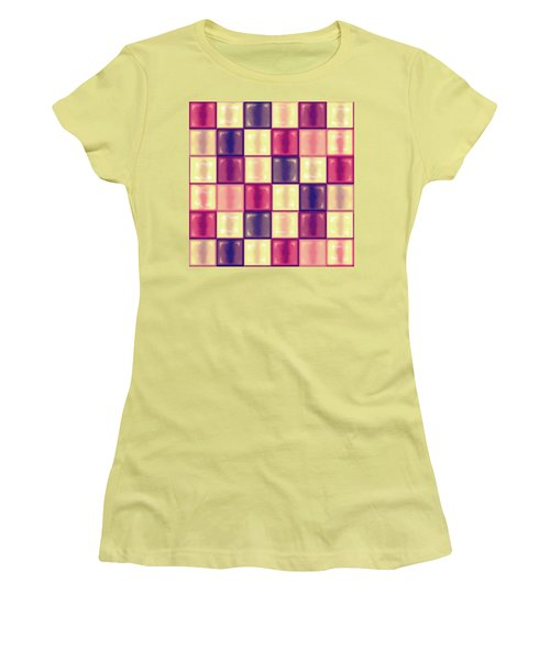 Marsala Ceramic Tiles - Square Women's T-Shirt (Junior Cut) by Shelly Weingart