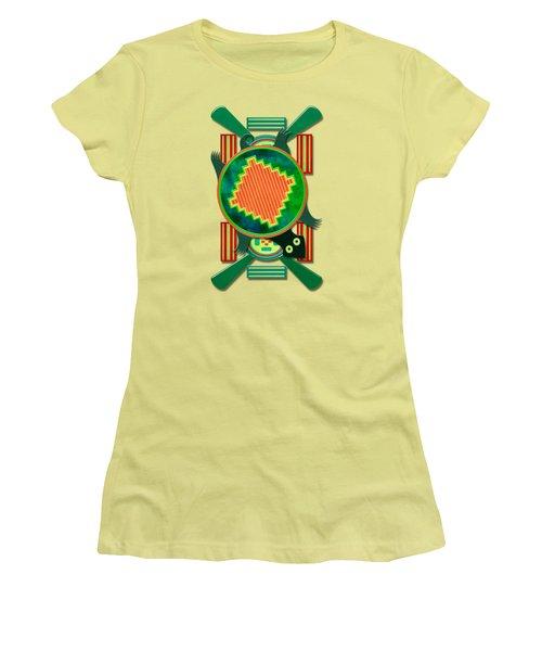 Native American 3d Turtle Motif Women's T-Shirt (Junior Cut) by Sharon and Renee Lozen