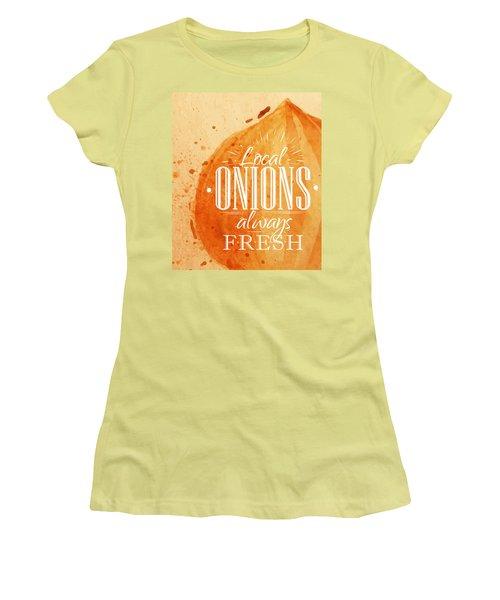 Onion Women's T-Shirt (Junior Cut) by Aloke Design