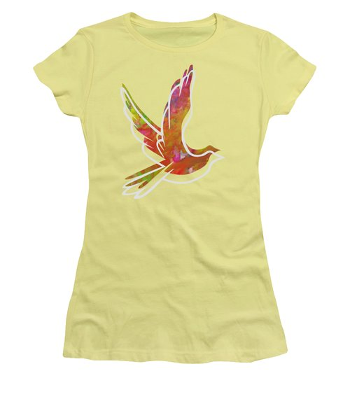 Part Of Peace Dove Women's T-Shirt (Junior Cut) by Priscilla Wolfe