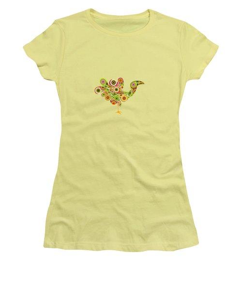 Peafowl Women's T-Shirt (Junior Cut) by Bekare Creative