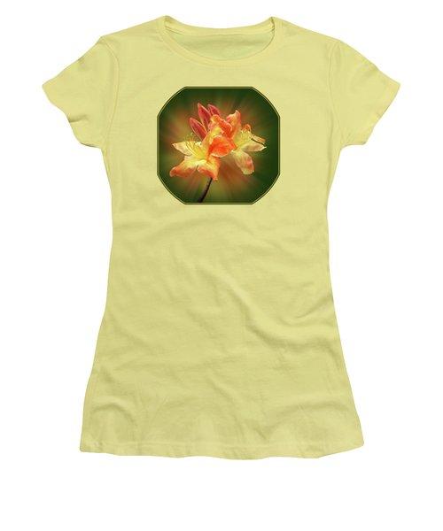 Sunburst Orange Azalea Women's T-Shirt (Junior Cut) by Gill Billington