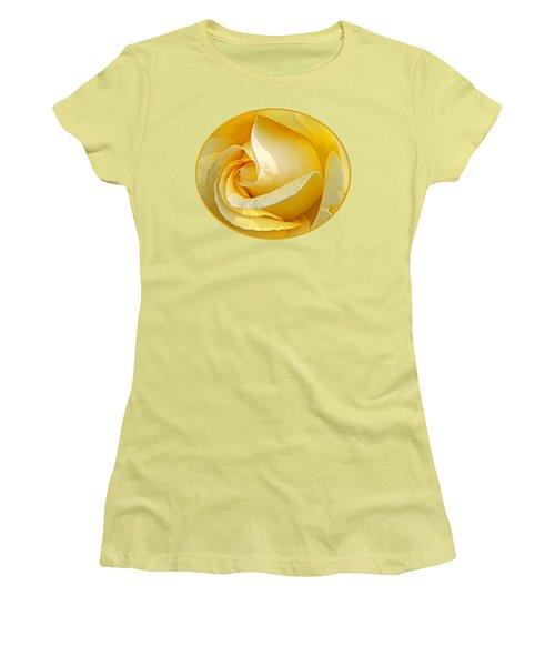 Sunshine Rose Women's T-Shirt (Junior Cut) by Gill Billington