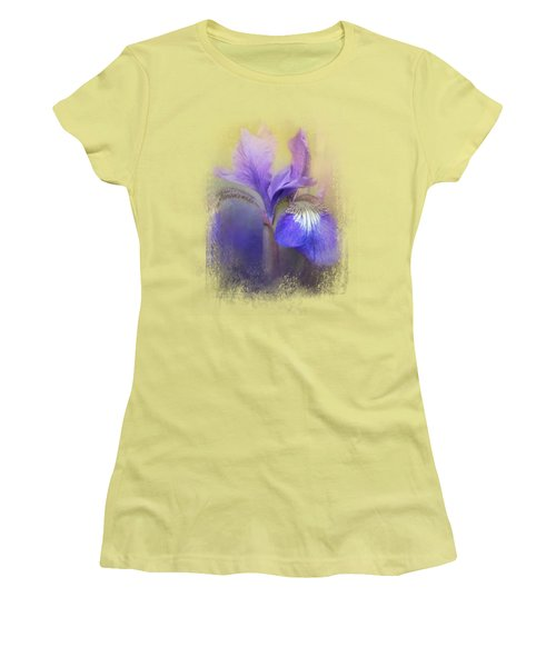 Tiny Iris Women's T-Shirt (Junior Cut) by Jai Johnson
