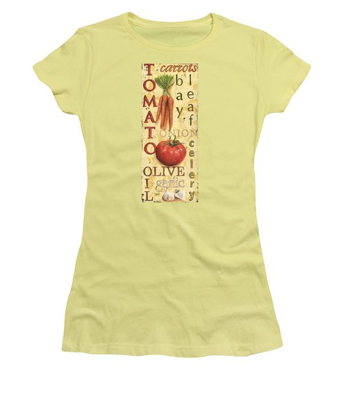 Tomato Soup Women's T-Shirt (Junior Cut) by Debbie DeWitt