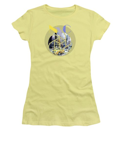 Trendy Design New York City Geometric Mix No 3 Women's T-Shirt (Junior Cut) by Melanie Viola