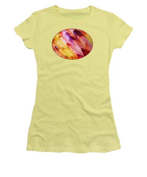 Triton Seashell Multicolor Abstract Women's T-Shirt (Junior Cut) by Gill Billington