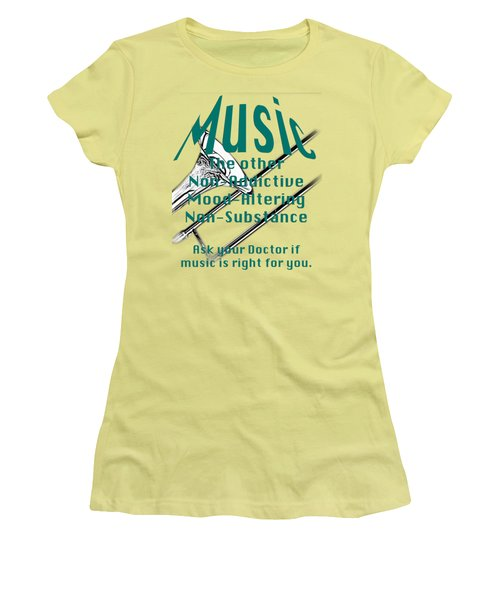 Trombone Music Is Right For You 5495.02 Women's T-Shirt (Junior Cut) by M K  Miller