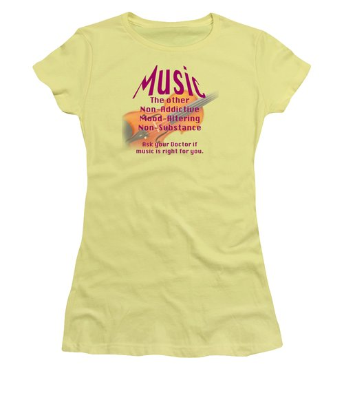 Violin Or Viola Music Is Right For You 5499.02 Women's T-Shirt (Junior Cut) by M K  Miller