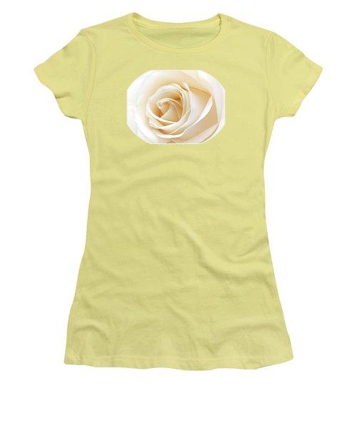 White Rose Heart Women's T-Shirt (Junior Cut) by Gill Billington