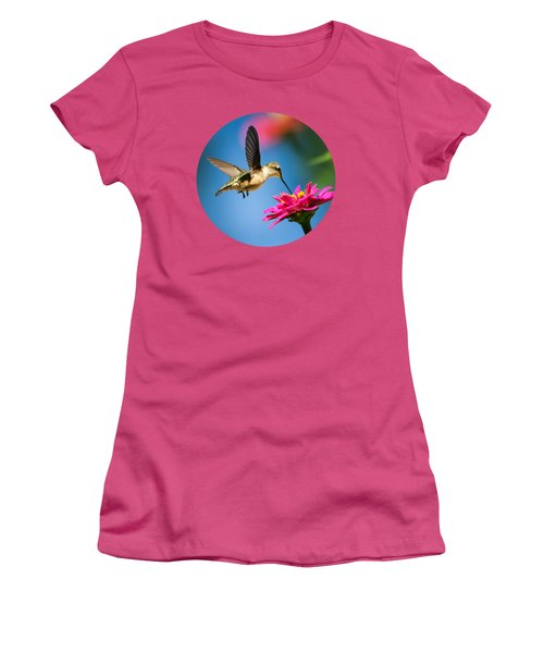 Art Of Hummingbird Flight Women's T-Shirt (Junior Cut) by Christina Rollo