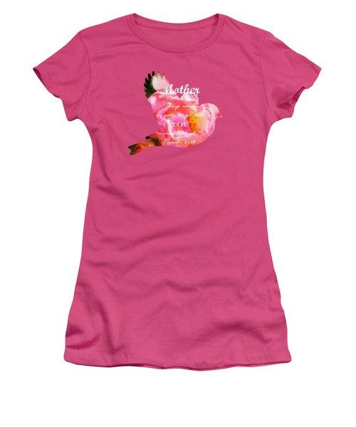 Roses - Verse Women's T-Shirt (Junior Cut) by Anita Faye
