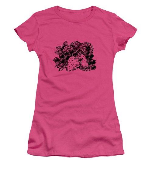 Berries From Forest Women's T-Shirt (Junior Cut) by Irina Sztukowski
