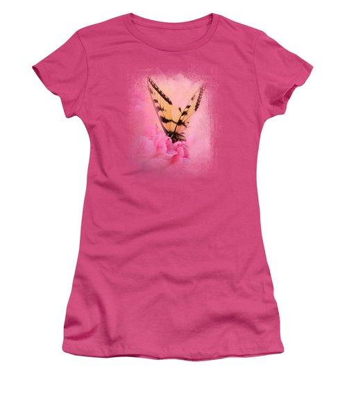 Butterfly On The Azaleas Women's T-Shirt (Junior Cut) by Jai Johnson