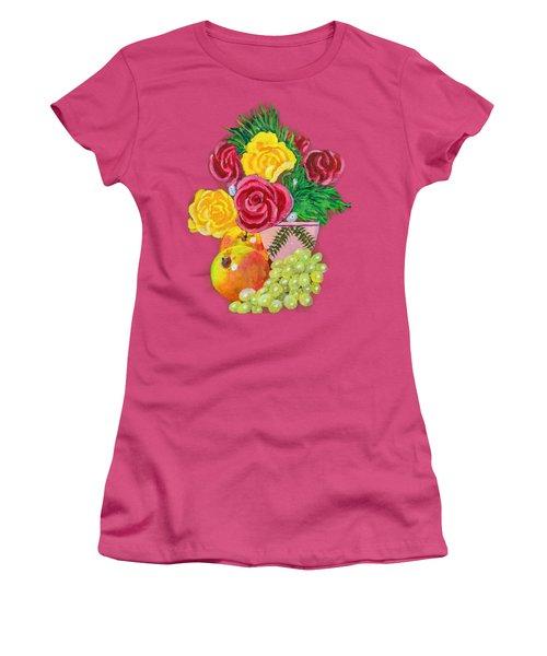 Fruit Petals Women's T-Shirt (Junior Cut) by Joe Leist -digitally mastered by- Erich Grant