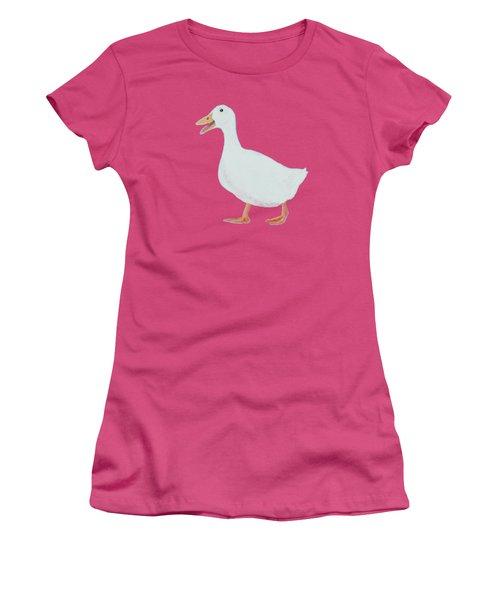 Goose Named Audrey Women's T-Shirt (Junior Cut) by Jan Matson