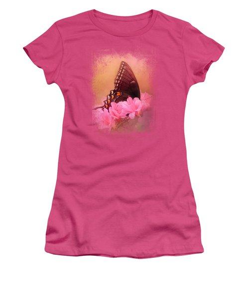 Napping In The Azaleas Women's T-Shirt (Junior Cut) by Jai Johnson
