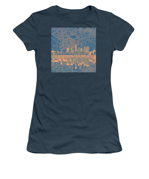 Austin Texas Skyline 2 Women's T-Shirt (Junior Cut) by Bekim Art