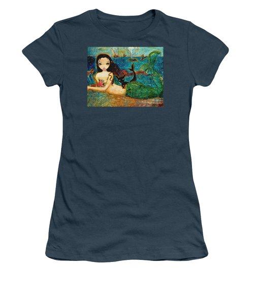 Little Mermaid Women's T-Shirt (Junior Cut) by Shijun Munns