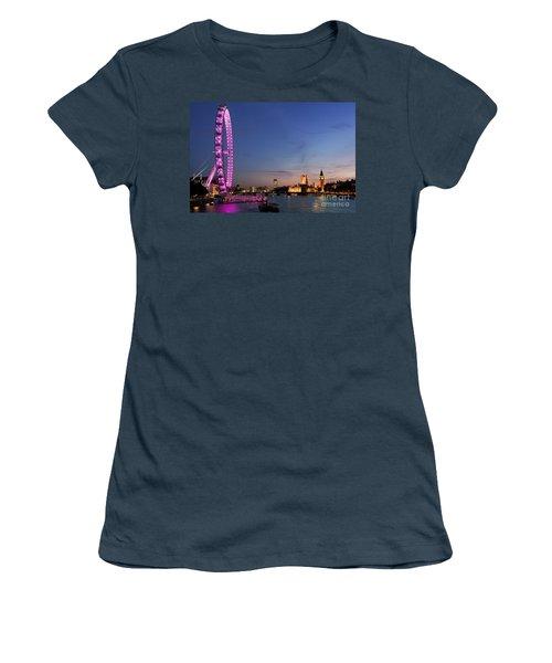 London Eye Women's T-Shirt (Junior Cut) by Rod McLean