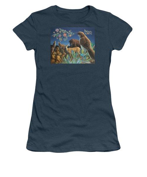 Nocturnal Cantata Women's T-Shirt (Junior Cut) by James W Johnson