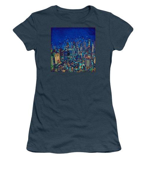 Philadelphia Panorama Pop Art 2 Women's T-Shirt (Junior Cut) by Bekim Art