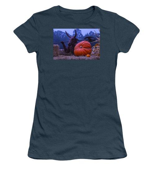 Pumpkin And Minotaur Women's T-Shirt (Junior Cut) by Garry Gay