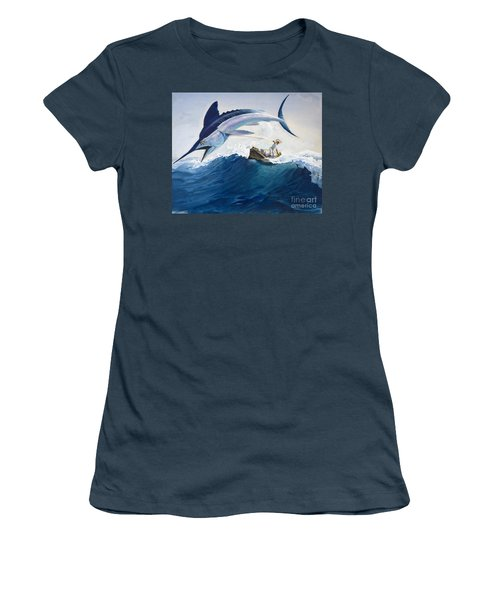 The Old Man And The Sea Women's T-Shirt (Junior Cut) by Harry G Seabright