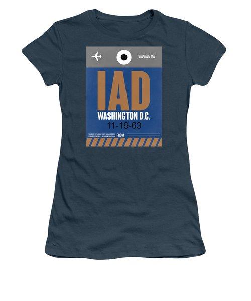 Washington D.c. Airport Poster 4 Women's T-Shirt (Junior Cut) by Naxart Studio