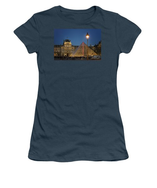 Louvre Museum At Twilight Women's T-Shirt (Junior Cut) by Juli Scalzi