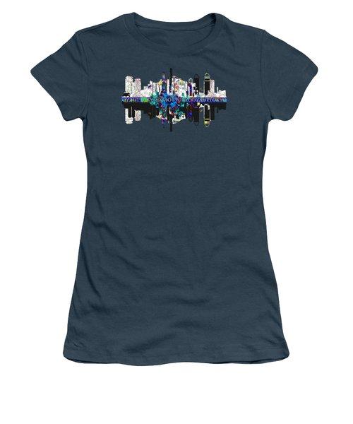 Tokyo Skyline Women's T-Shirt (Junior Cut) by John Groves
