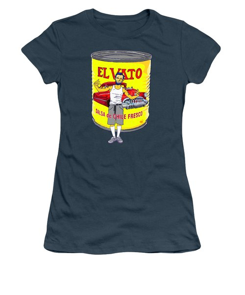 El Vato - Abe Women's T-Shirt (Junior Cut) by Armando Padilla